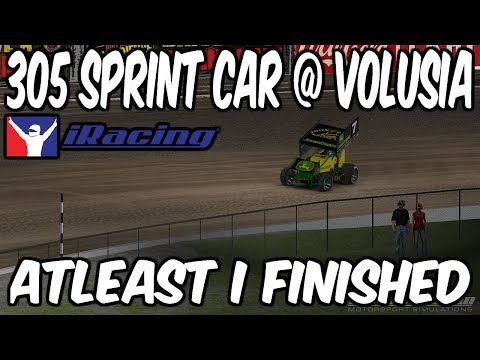 iRacing 305 Sprint car Volusia Speedway, atleast I  finished