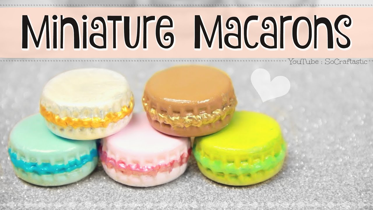 MINIATURE MACARON // DIY Mini Macarons from Bottle Caps ...
