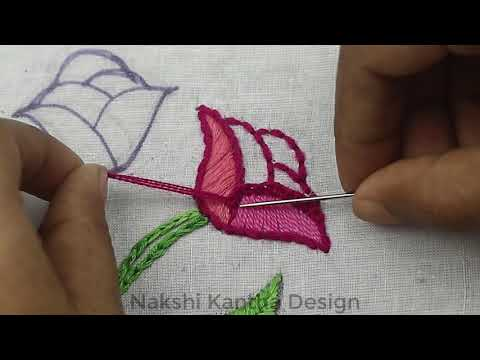 Hand Embroidery- Bullion Knot Rose Stitch Embroidery | Brazilian Embroidery | rose embroidery