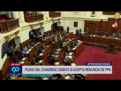 #PerúEnCrisis (22-03-2018): Congreso inicia debate sobre renuncia de PPK