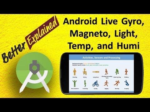 Android Gyroscope, Magnetometer, Light, Temperature, Humidity, Pressure Sensor Tutorial 3