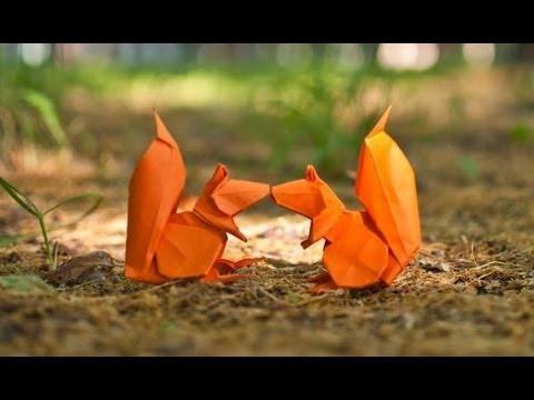 Origami Squirrel By Stephan Weber Yakomoga Origami Tutorial Youtube