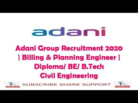 adani-group-recruitment-2020-|-billing-&-planning-engineer-|-diploma/-be/-b.tech-civil-engineering
