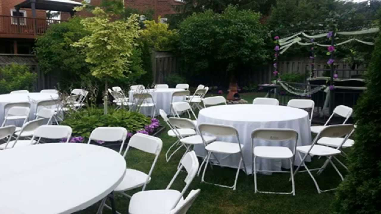 Chair Cover Rentals Gta Farm House Chairs Complete Tent And Party Toronto Brampton Oakville The Youtube Premium