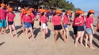 VPBFCMekong 1 - Teambuilding 2015  Mien Tay   Phan Thiet   tro choi Nhay Cung ZinZin