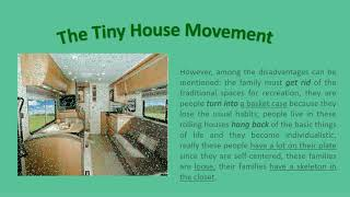Evidence The Tiny House Movement