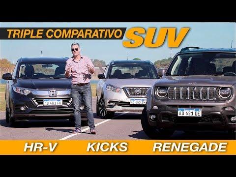 Comparativo SUV: Jeep Renegade | Nissan Kicks | Honda HRV - Matías Antico - TN Autos