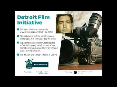 Detroit Film Initiative - a Crain's Detroit Business Webinar