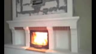 şömine ateşi sulu şömine