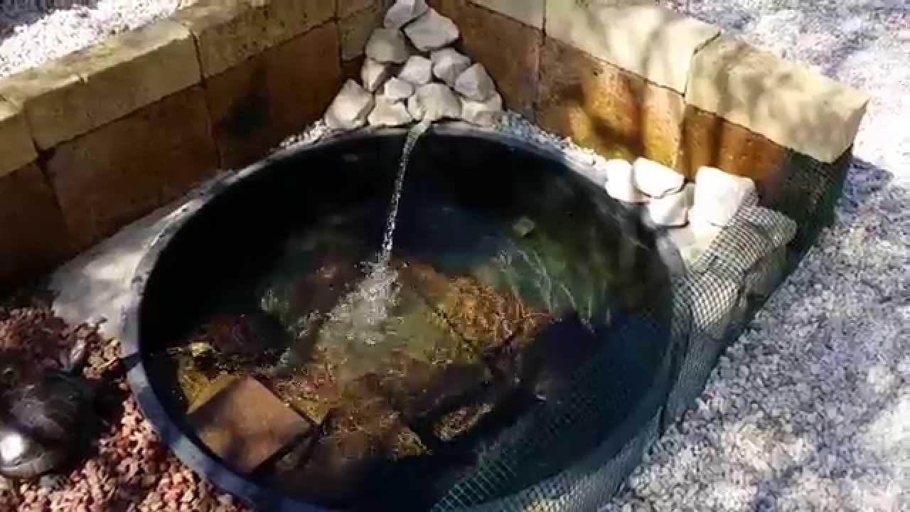 Vasca Da Giardino In Pvc.Laghetto Per Tartarughe Con Sistema Di Filtraggio Acqua Youtube