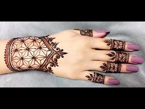 Amazing Henna Design Time lapse   Latest Arabic Henna Tattoo
