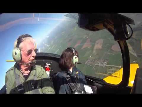 Hold on tight for an aerobatics flight!