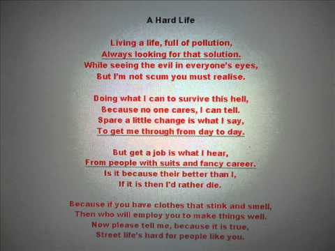 A Hard Life (poem/rhyme) - YouTube