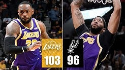 LeBron James' triple-double and Anthony Davis' double-double power Lakers | 2019-20 Highlights