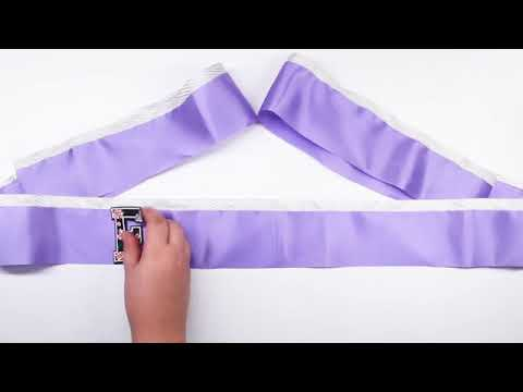 Step 7  of  how to make a satin sash