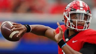 Justin Fields Spotted at Georgia Scrimmage