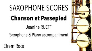 Chanson et Passepied – Jeanine RUEFF – Saxophone & piano