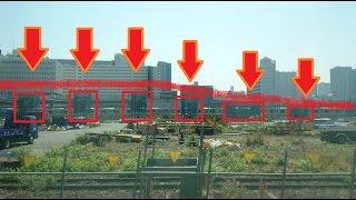 山手線新駅工事現場に京浜東北線と山手線が立体交差する新橋脚が登場!