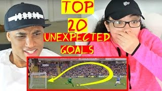 Top 20 Unexpected Goals In Football REACTION