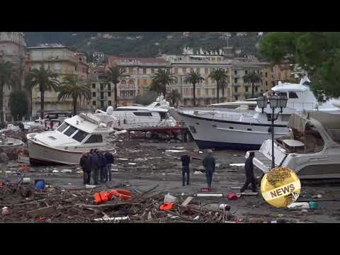 Witness: Luxury yachts damaged by floods in Italy