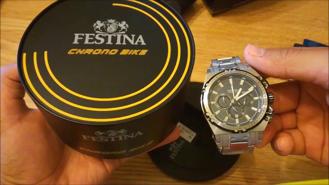 ded66f64f50 Festina Tourchrono Chrono Bike 2016 F16968 3 Herrenuhr Review - YouTube
