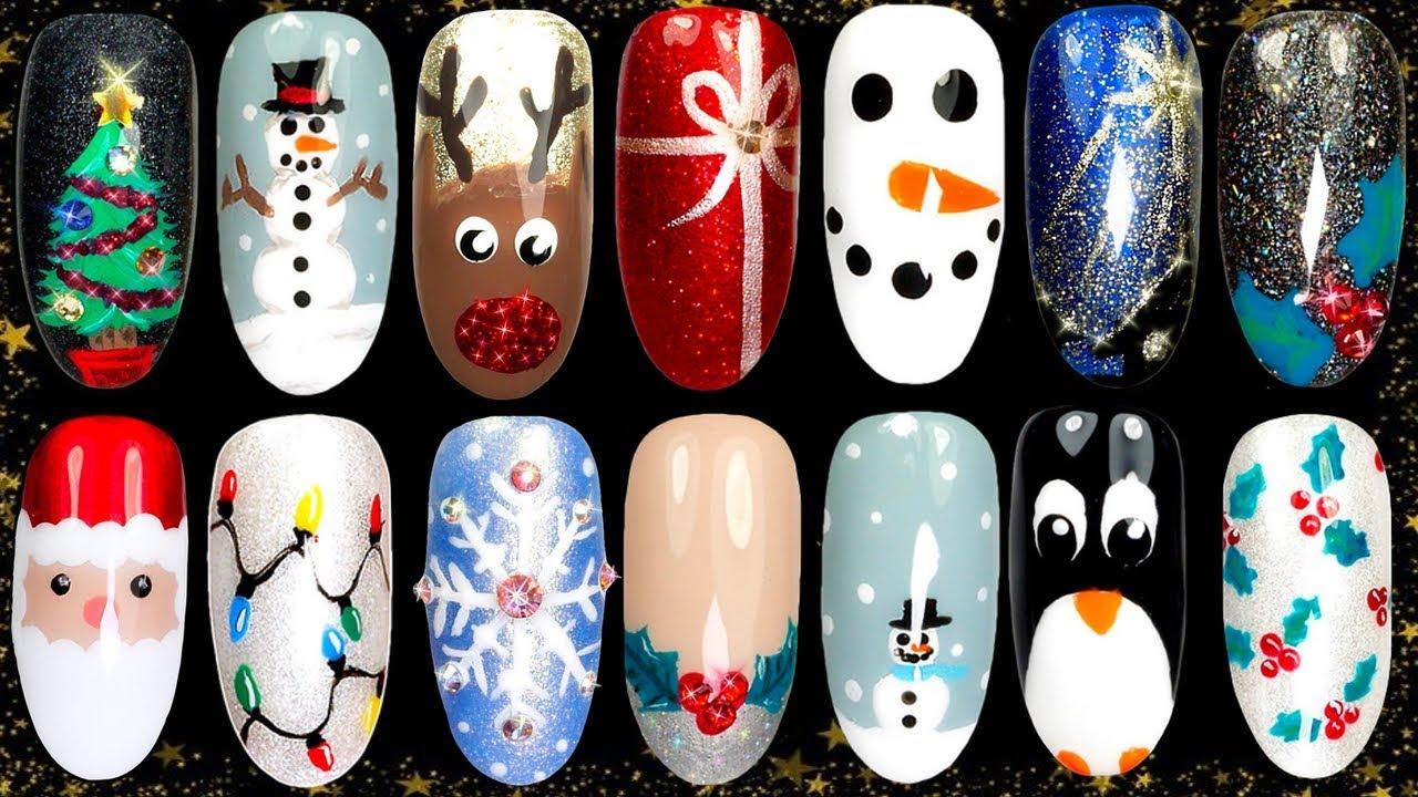 Christmas Nail Designs.10 Easy Christmas Nail Art Ideas Nail Design Compilation