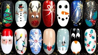 10 Easy Christmas Nail Art Ideas  - Nail Design Compilation