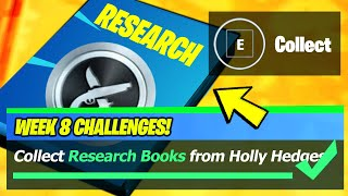 Collect Research Books from Holly Hedges and Pleasant Park & Research books Locations - Fortnite