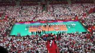 The national anthem of Serbia/ Poland-Serbia/ Warsaw/ Volleyball Men