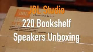 jBL Studio 220 Mini Monitor Speakers Unboxing