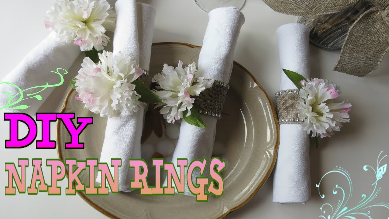 Diy Flower Napkin Rings Using Paper Towel Tubeeverydayfun Youtube