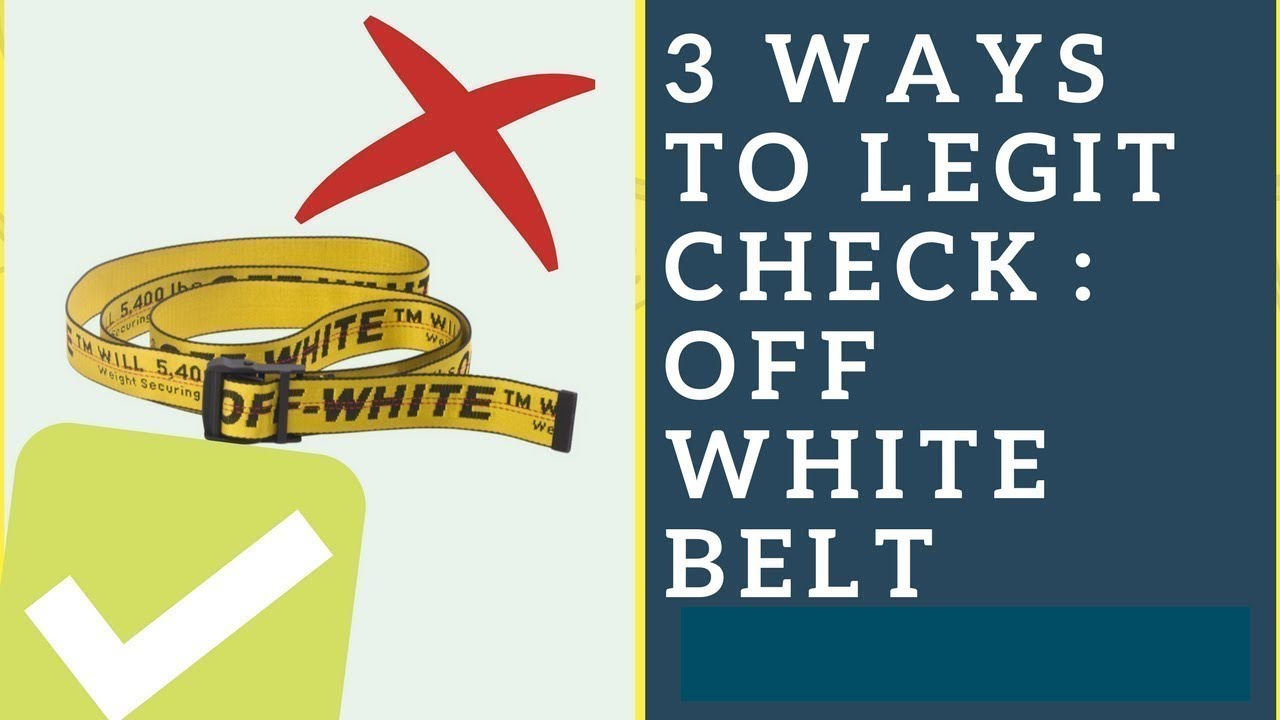 cecbb99a81a 3 Ways to Legit Check  OFF WHITE Industrial Belt - YouTube