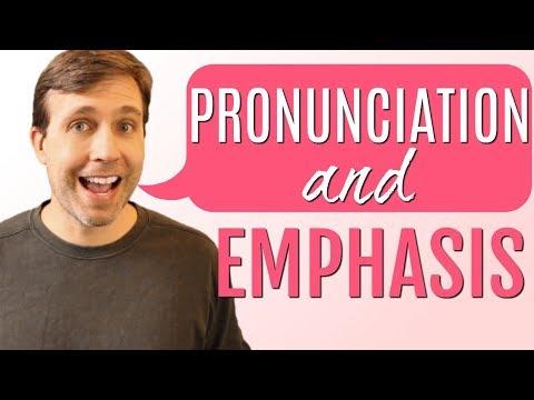 PRONUNCIATION & EMPHASIS LESSON   Interactive Quiz