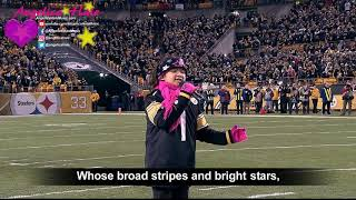 Angelica Hale Sings National Anthem - Baltimore Ravens vs. Pittsburgh Steelers (12/10/17)