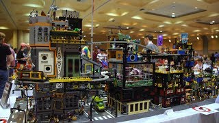 Impressive LEGO Dystopian Monorail City!