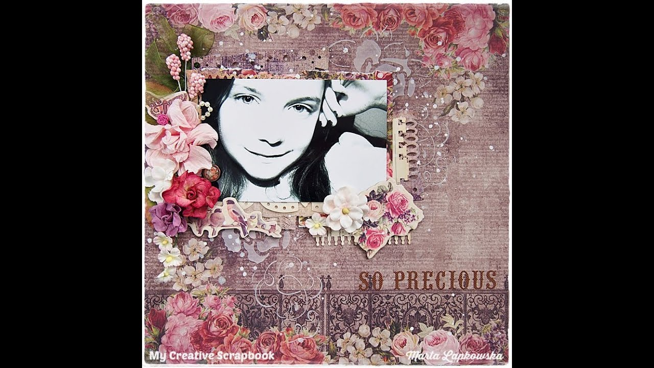 Beginners Scrapbooking Page Youtube
