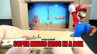 How to Make Super Mario Bros Game Using Cardboard  | [No.4] Amazing Game from Cardboard