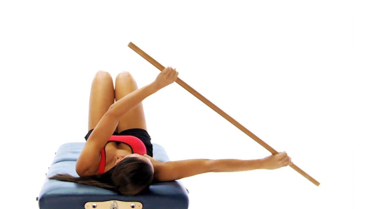 Frozen shoulder exercise - pole mobility - YouTube