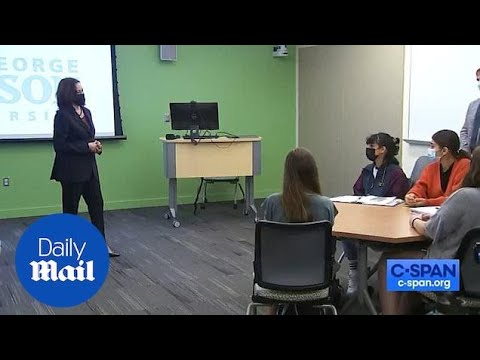 Kamala Harris 'Strongly Disagrees' with Student Who Said Israel ...