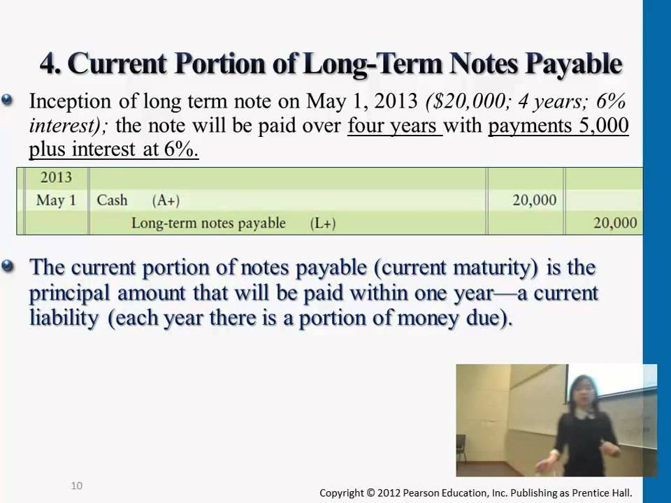 Current Portion of Long Term Notes Payable - YouTube - note payables