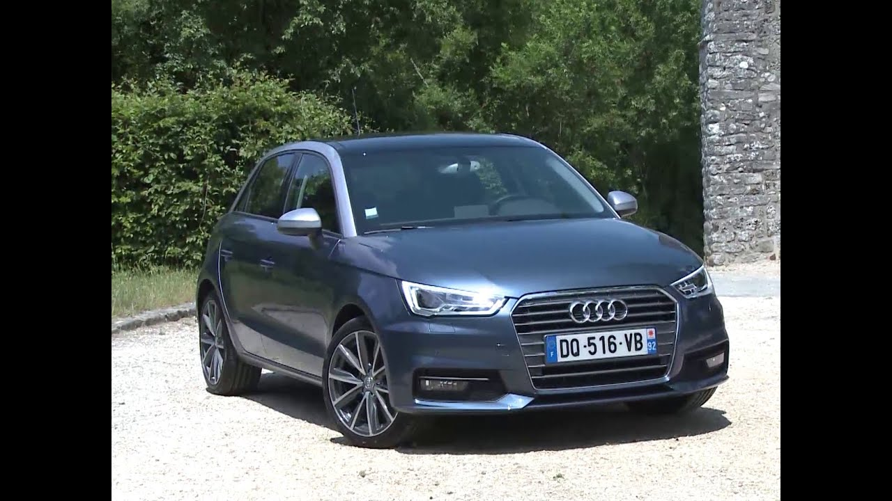 essai audi a1 sportback 1 0 tfsi 95 s tronic ambition luxe youtube. Black Bedroom Furniture Sets. Home Design Ideas