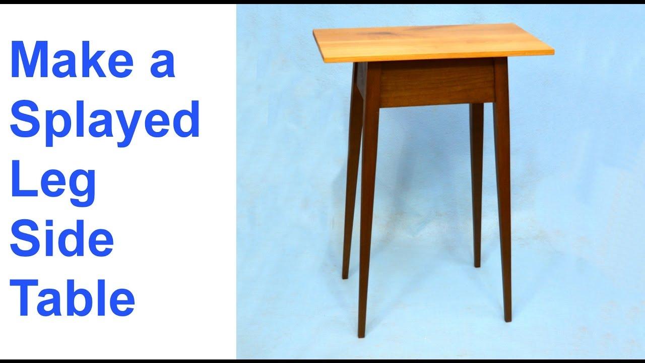 Make A Splayed Leg Side Table