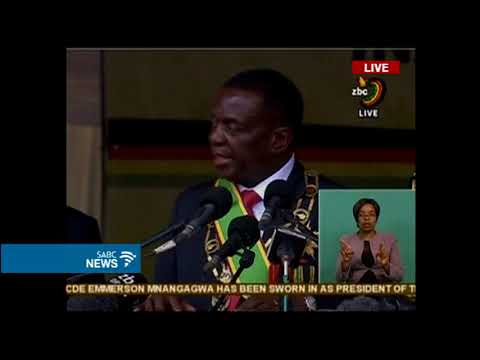 President Emmerson Mnangagwa inauguration speech