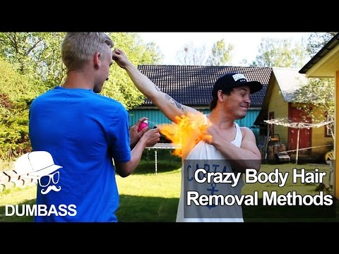 Crazy Body Hair Removal Methods