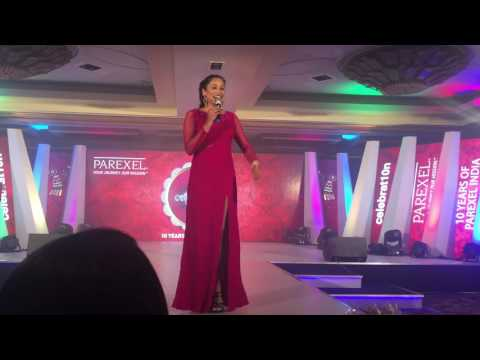 Emcee Reena Dsouza compering for Parexel India|Emcee|Anchor|TV show host|Compere|Corporate presenter