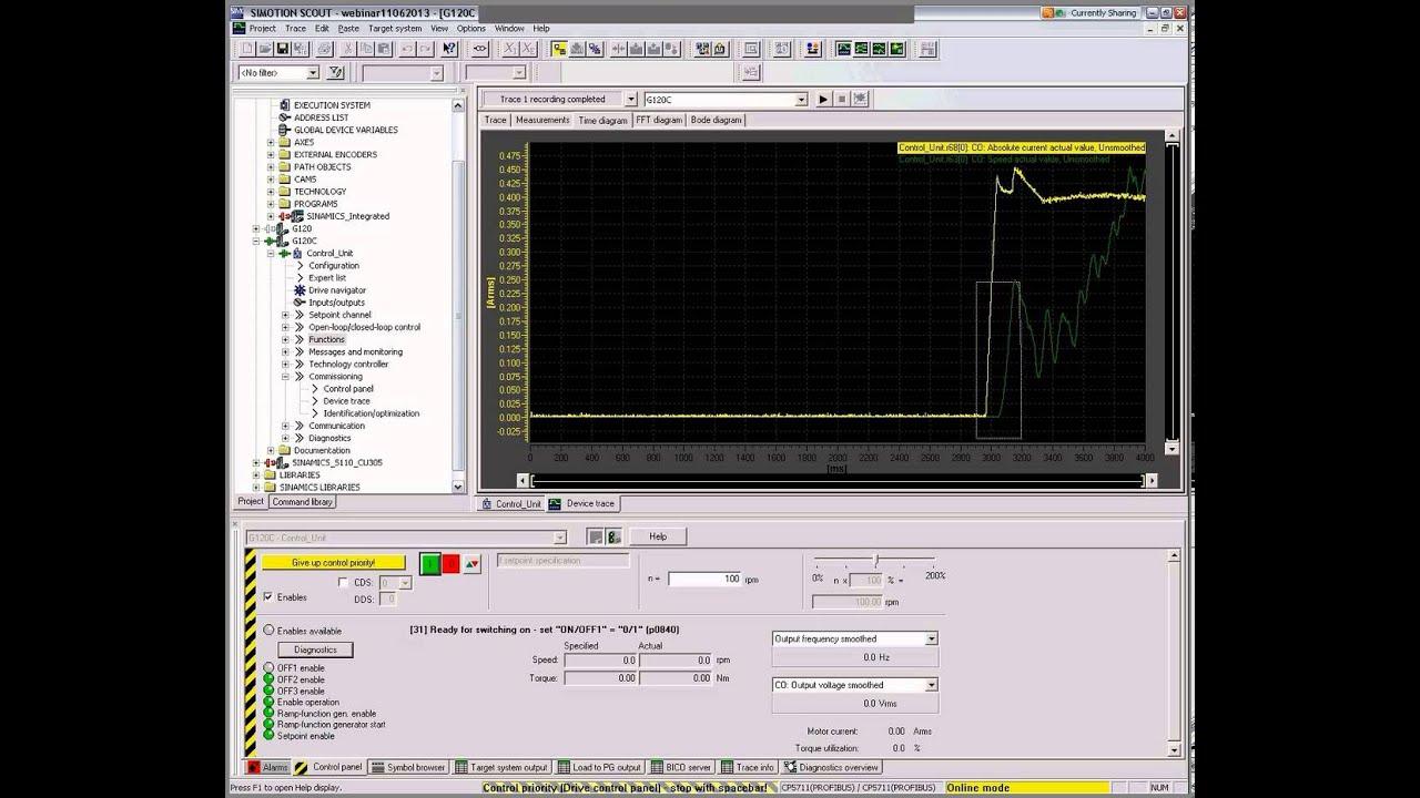 Вебинар: Sinamics G120 S120 - ввод в эксплуатацию