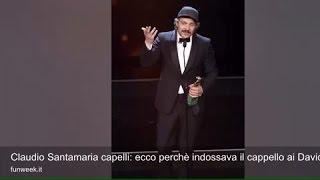 Claudio Santamaria capelli: ecco perchè indossava il cappello ai David di Donatello