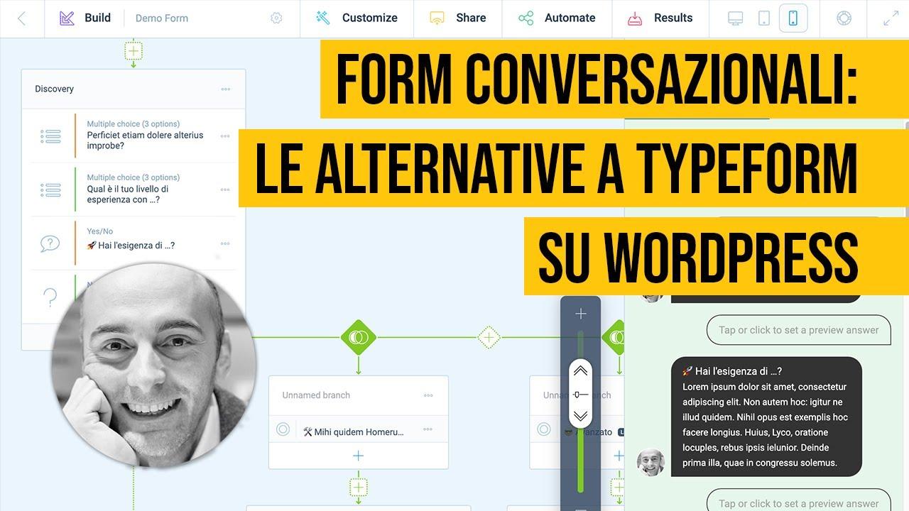 Form Conversazionali su WordPress: alternative a Typeform