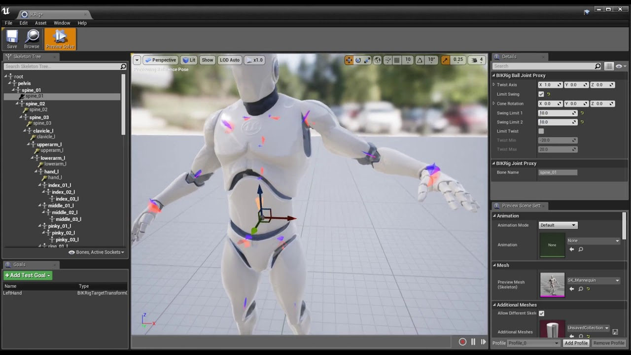 BIK (Full Body IK Solver): Rig Editor Feature Overview