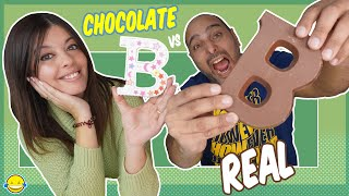 🍫 Chocolate Food vs Real Challenge 2!! Jordi y Bego de Momentos Divertidos